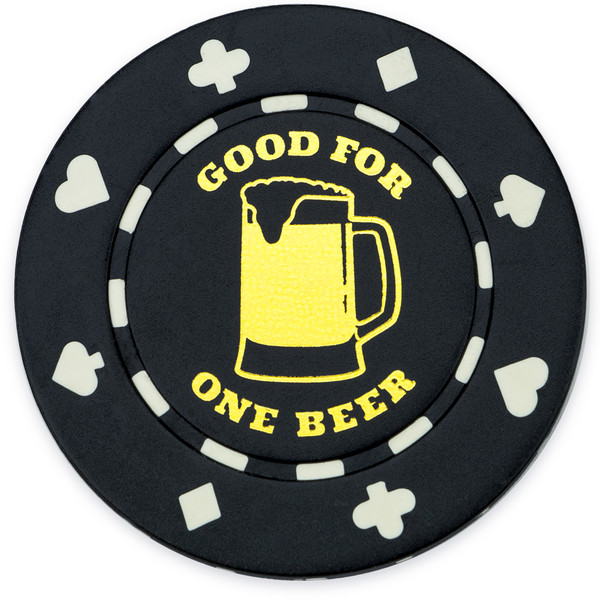 "25 Black ""1 Beer"" Bar Token Chips"
