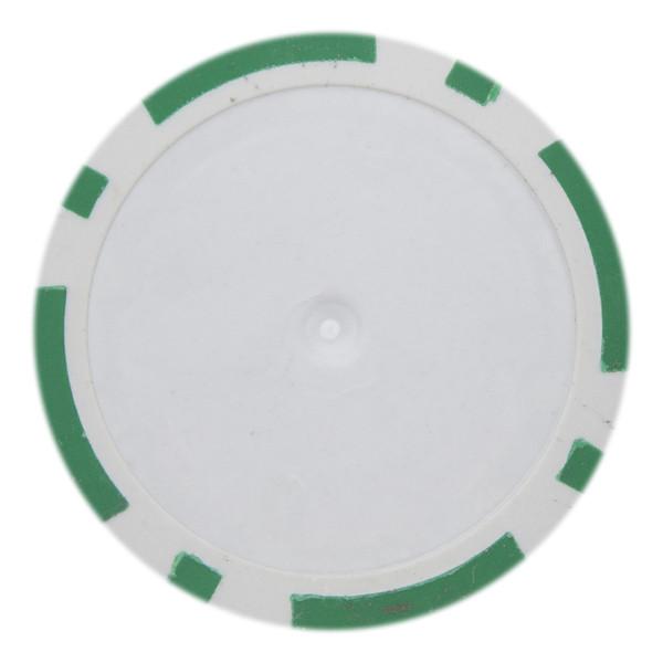 14 Gram Classic 8 Stripe Poker Chips-Green