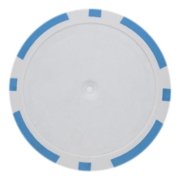 14 Gram Classic 8 Stripe Poker Chips-Light Blue