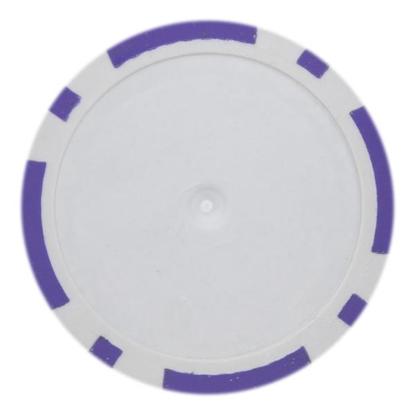 14 Gram Classic 8 Stripe Poker Chips-Purple