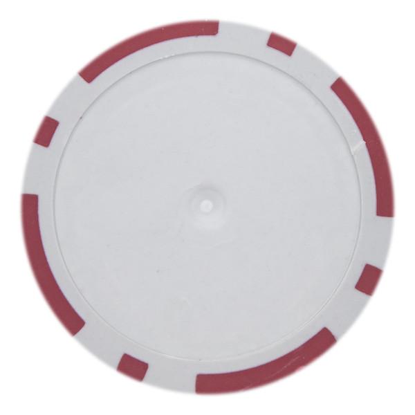 14 Gram Classic 8 Stripe Poker Chips-Red