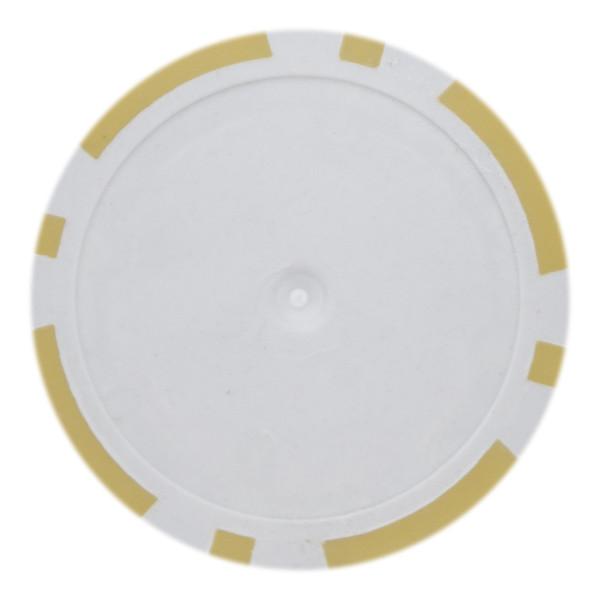 14 Gram Classic 8 Stripe Poker Chips-Yellow