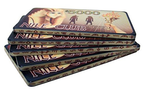 10 $5000 Nile Club Ceramic Poker Plaques