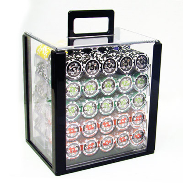 1,000 Ace Casino Poker Chip Set with Acrylic Carrying Case