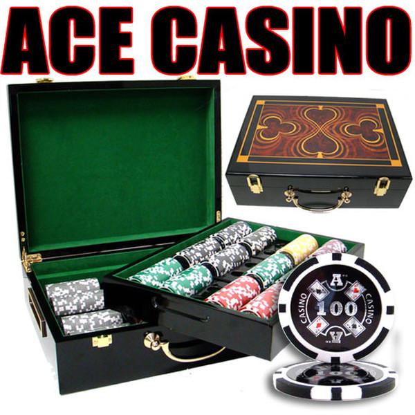 500 Ace Casino Poker Chip Set with Hi Gloss Case