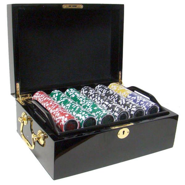 500 Ace Casino Poker Chip Set with Black Mahogany Case