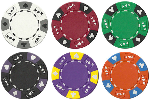 1,000 Ace King Suited Poker Chip Set with Rolling Case