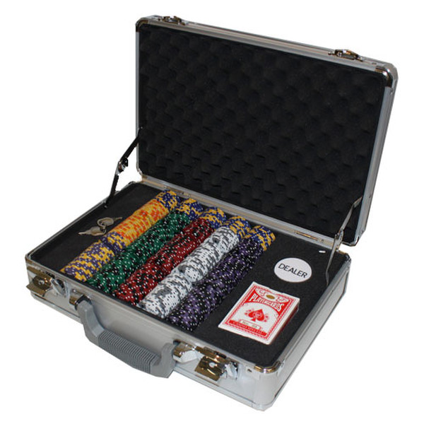 300 Ace King Suited Poker Chip Set with Claysmith Case