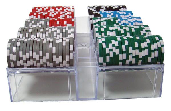 200 Black Diamond Poker Chip Set with Acrylic Tray