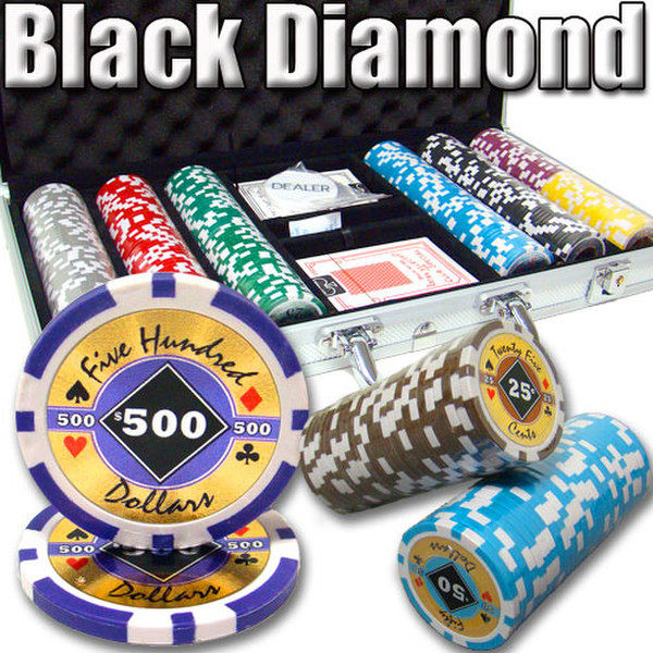 300 Black Diamond Poker Chip Set with Aluminum Case