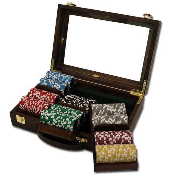 300 Black Diamond Poker Chip Set with Walnut Case