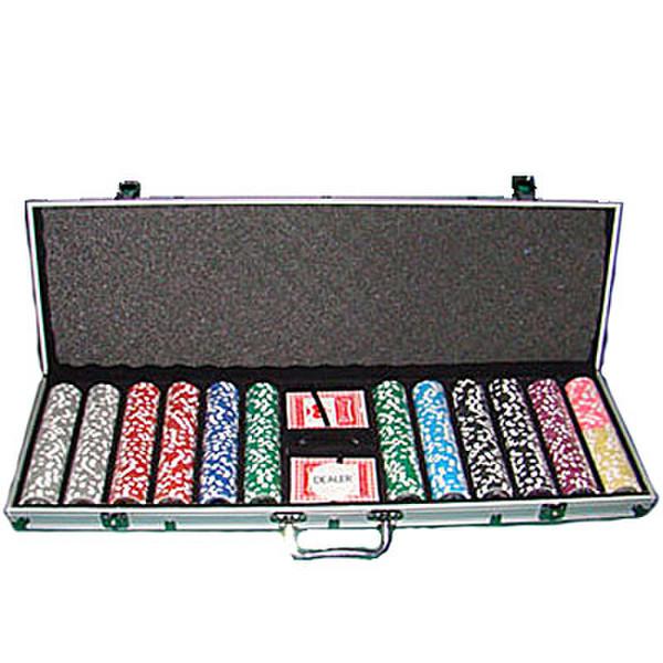 600 Black Diamond Poker Chip Set with Aluminum Case