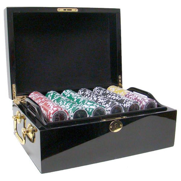 500 Ben Franklin Poker Chip Set with Black Mahogany Case