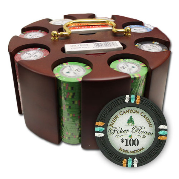 200 Bluff Canyon Poker Chip Set with Acrylic Tray