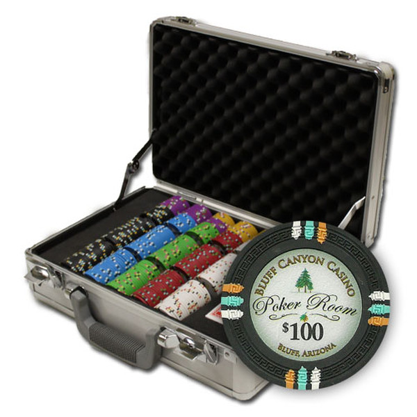 300 Bluff Canyon Poker Chip Set with Claysmith Case