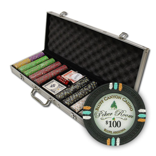 500 Bluff Canyon Poker Chip Set with Aluminum Case