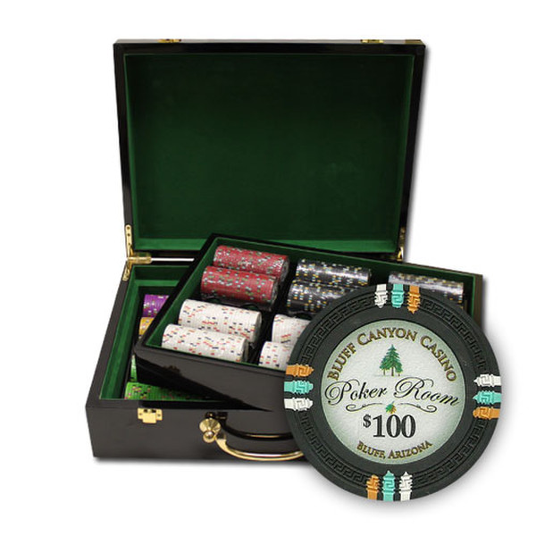 500 Bluff Canyon Poker Chip Set with Hi Gloss Case