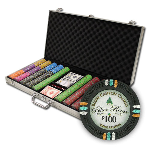 750 Bluff Canyon Poker Chip Set with Aluminum Case