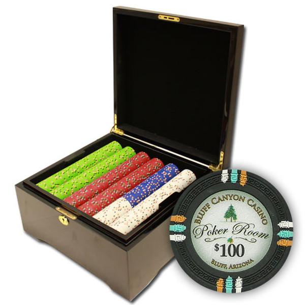 750 Bluff Canyon Poker Chip Set with Mahogany Case