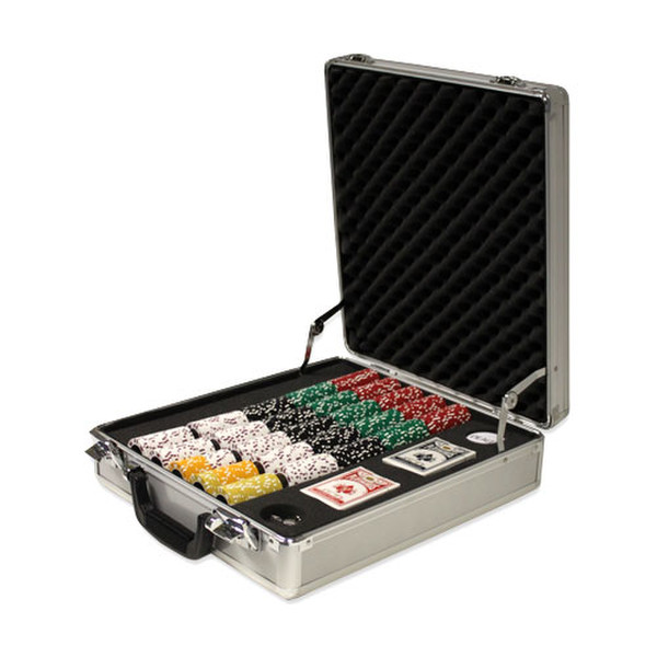 500 Coin Inlay Poker Chip Set with Claysmith Case