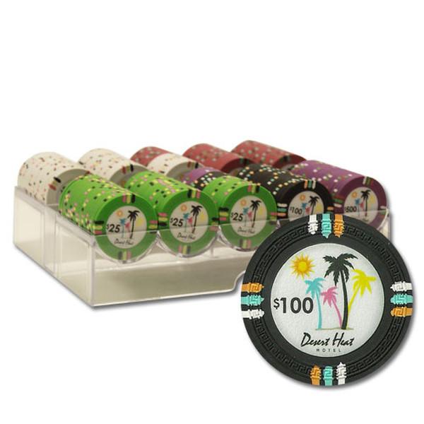 200 Desert Heat Poker Chip Set with Carousel