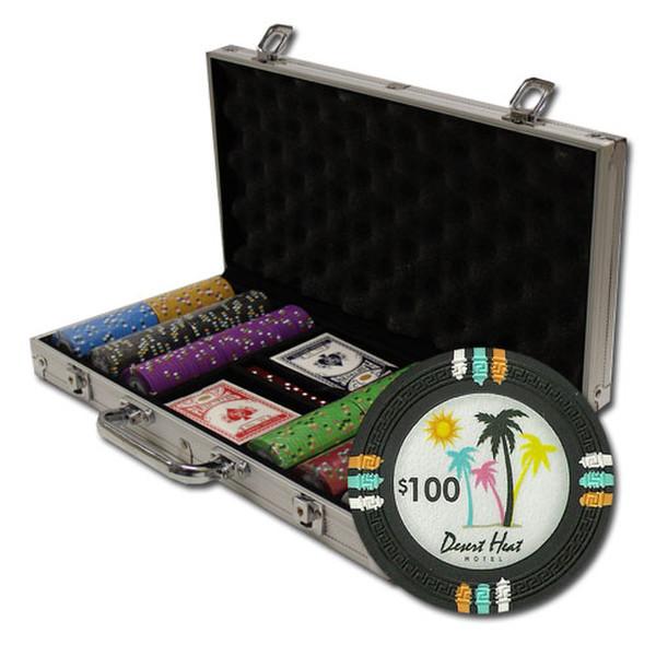 300 Desert Heat Poker Chip Set with Aluminum Case