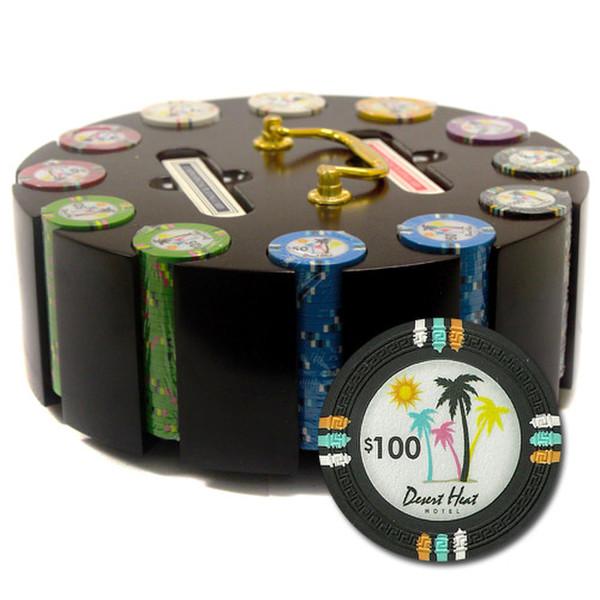 300 Desert Heat Poker Chip Set with Wooden Carousel