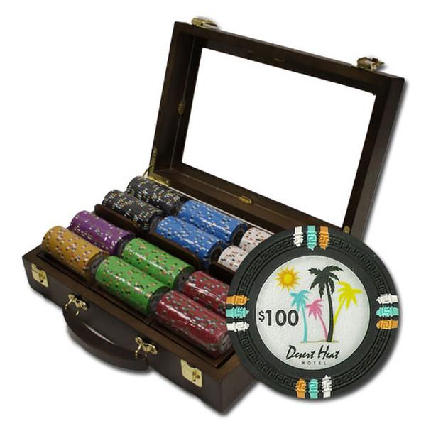 300 Desert Heat Poker Chip Set with Walnut Case