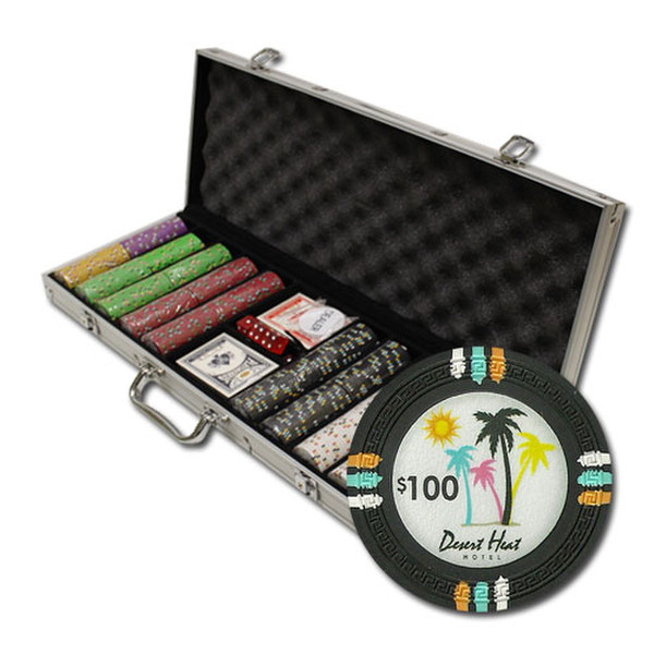 500 Desert Heat Poker Chip Set with Aluminum Case