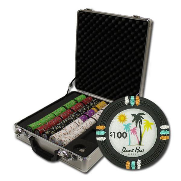 500 Desert Heat Poker Chip Set with Claysmith Case