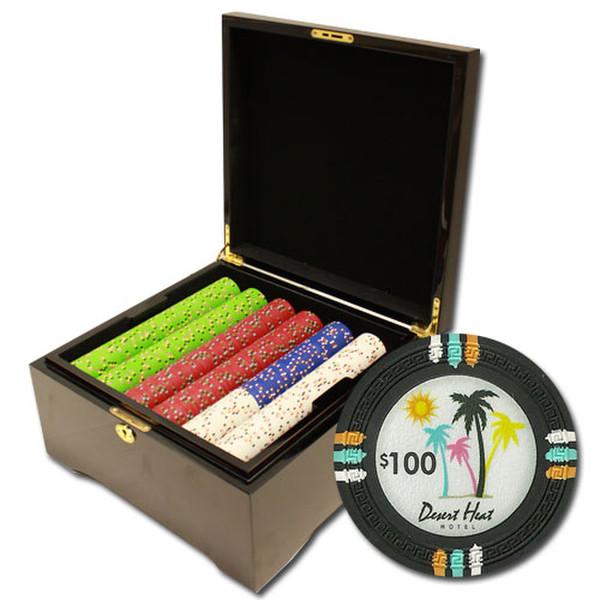 750 Desert Heat Poker Chip Set with Mahogany Case