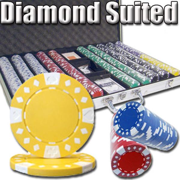 1,000 Diamond Suited Poker with Aluminum Case