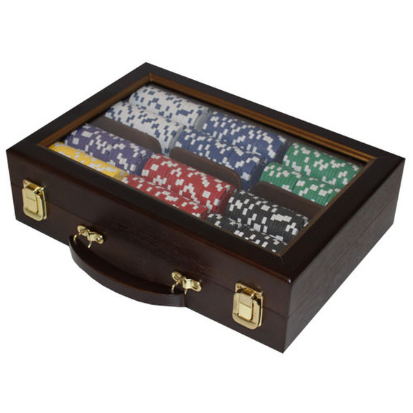 500 Diamond Suited Poker Chip Set with Aluminum Case