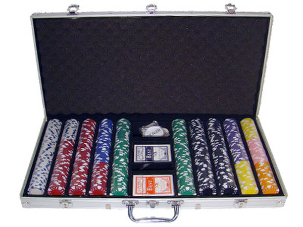 750 Diamond Suited Poker Chip Set with Aluminum Case
