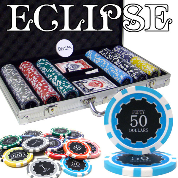 300 Eclipse Poker Chip Set with Aluminum Case