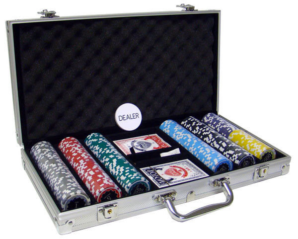 300 Eclipse Poker Chip Set with Aluminum Case