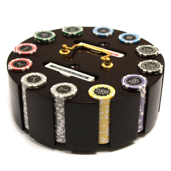 300 Eclipse Poker Chip Set with Wooden Carousel