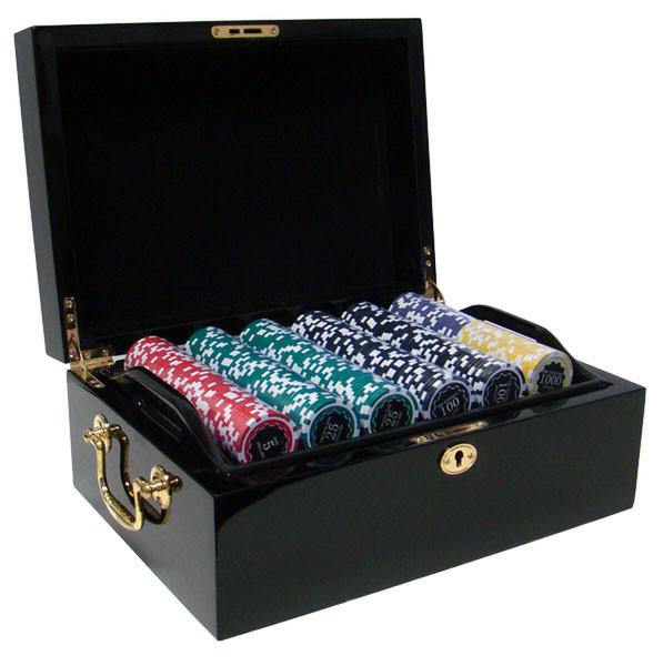 500 Eclipse Poker Chip Set with Black Mahogany Case