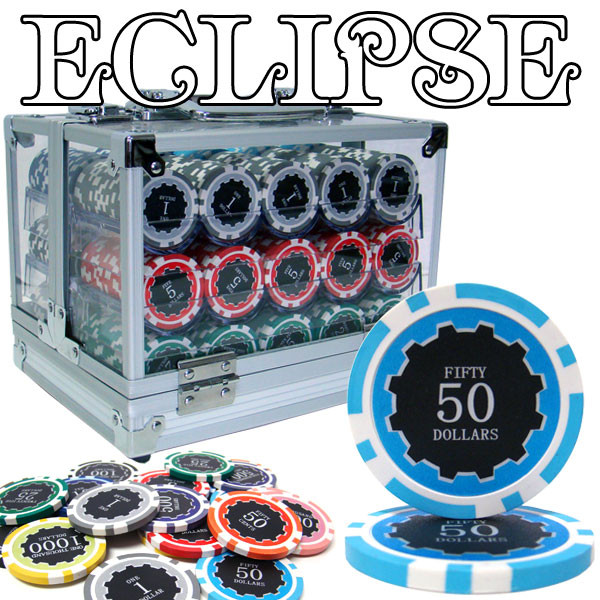 600 Eclipse Poker Chip Set with Acrylic Carrying Case