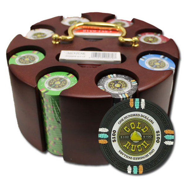 200 Gold Rush Poker Chip Set with Acrylic Tray