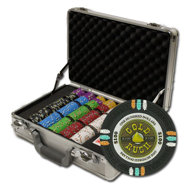 300 Gold Rush Poker Chip Set with Claysmith Case