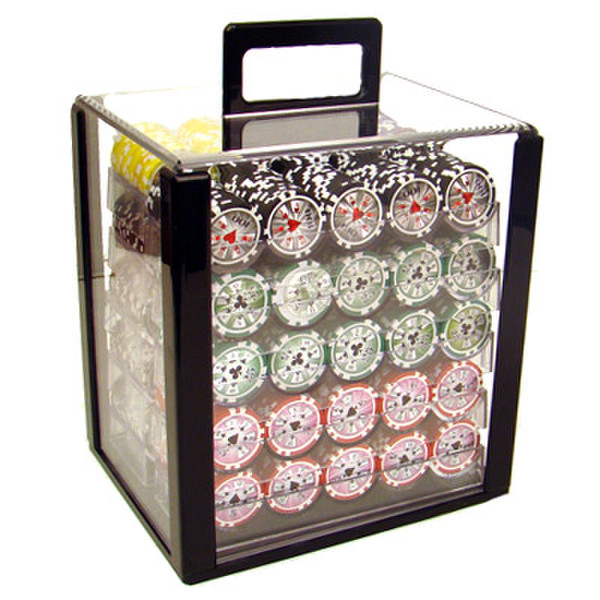 1,000 Hi Roller Poker Chip Set with Acrylic Carrying Case