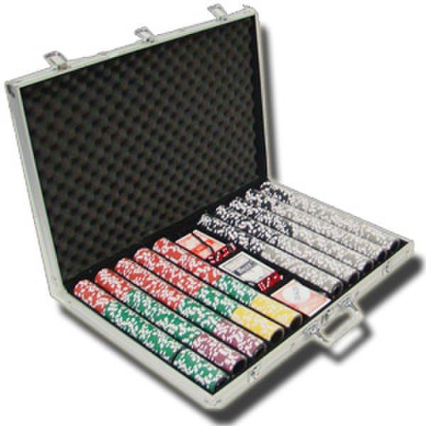 1,000 Hi Roller Poker Chip Set with Aluminum Case