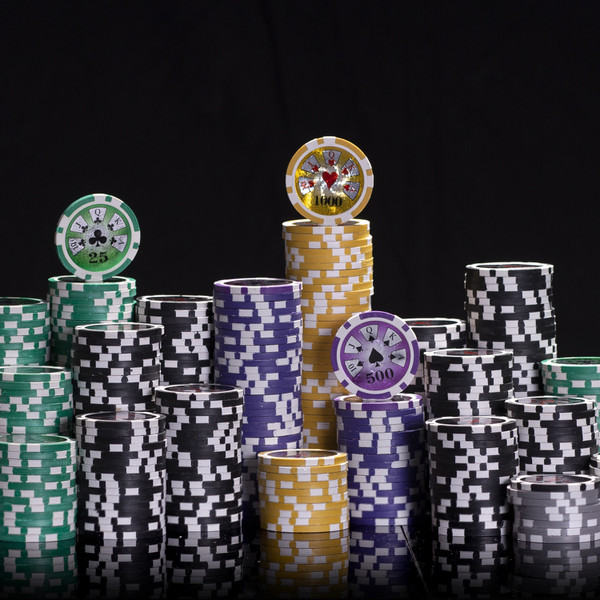 200 Hi Roller Poker Chip Set with Acrylic Tray