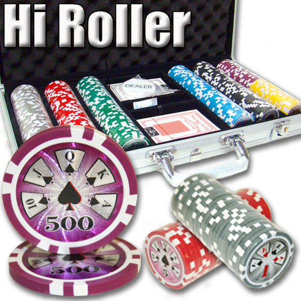 300 Hi Roller Poker Chip Set with Aluminum Case