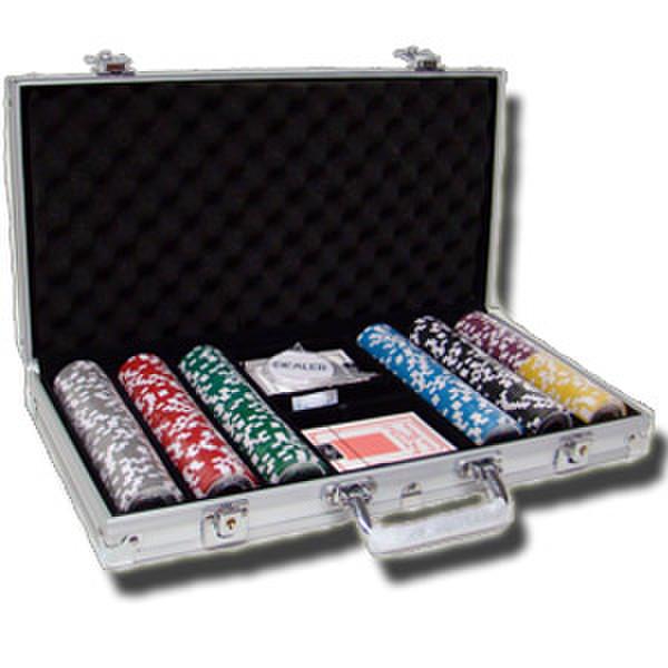 300 Hi Roller Poker Chip Set with Aluminum Case