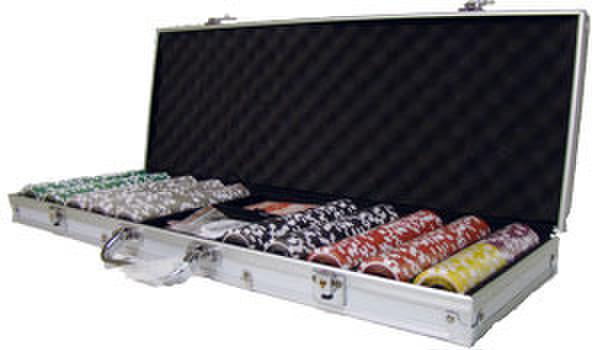 500 Hi Roller Poker Chip Set with Aluminum Case