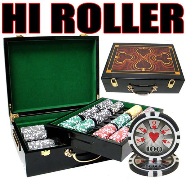 500 Hi Roller Poker Chip Set with Hi Gloss Case