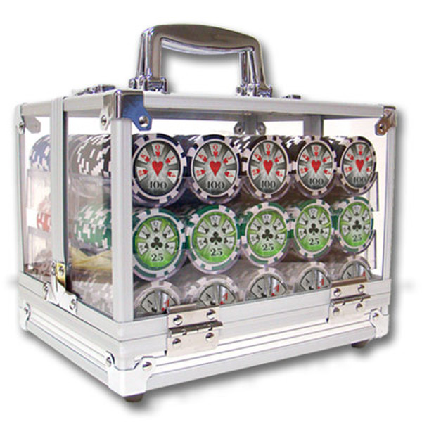 600 Hi Roller Poker Chip Set with Acrylic Carrying Case