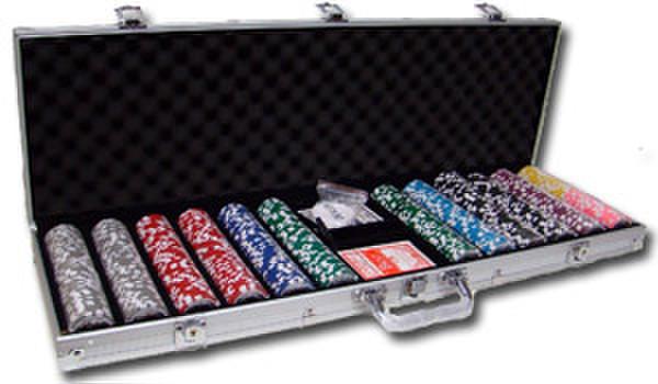 600 Hi Roller Poker Chip Set with Aluminum Case